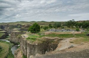 Palouse Falls State Park - Camping Area Aerial shot