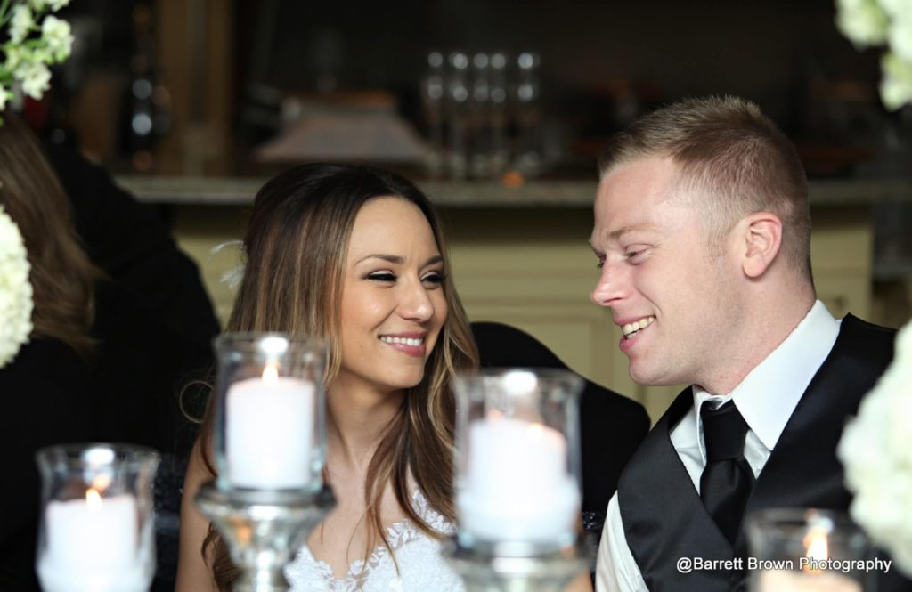 Kayla-and-Preston-laughing-during-dinner