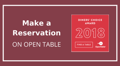 Open Table Make a Reservation notice