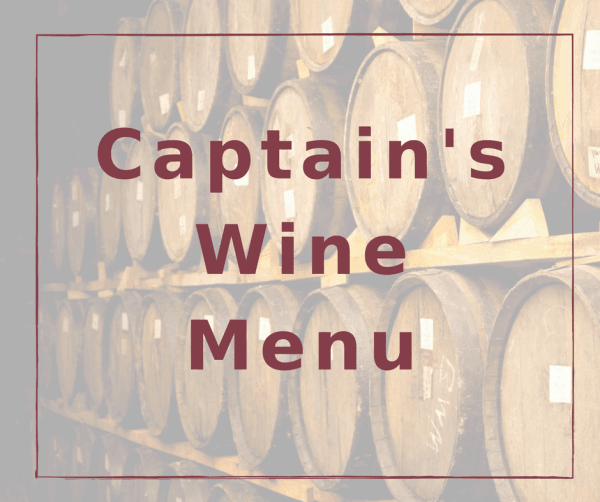 Captain's Wine List at the Vine @ Cameo Heights Mansion