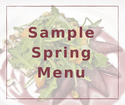 See Our Sample Spring Menu
